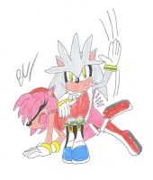 Silver spanks Amy Rose by BlackCarrot1129