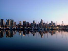 Vancouver skyline by nature-is-lovely