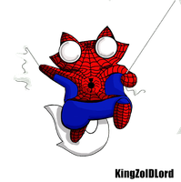 Funny cat adoptable Comic hero spiderman by KingZoidLord