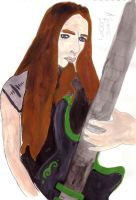 Nadine  Nathen With his Guitar by Dolly-Belladonna