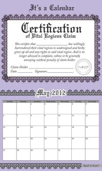 Not a Vital Region Claim Certificate -May- by Arkham-Insanity