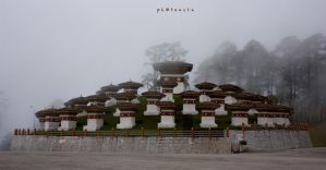 a beautiful scene from bhutan by pLateauce