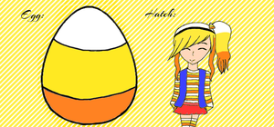 Candy Corn Egg (Hatched) by EggAdopts