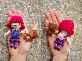 Amigurumi Annie (and Tibbers plushie) by natalianinomiya