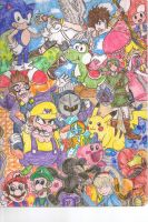 Super Smash Bros Brawl Palooza by ThatOneJood