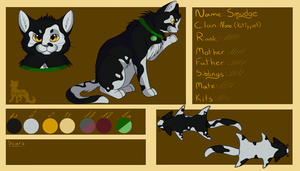 New smudge ref sheet by SassyHeart
