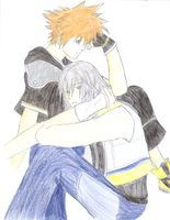 Sora and Riku by SaviorofSymphonia