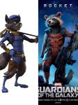 Sly cooper vs rocket raccoon by Justicewolf337