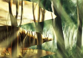speed paint - forest by xzodust