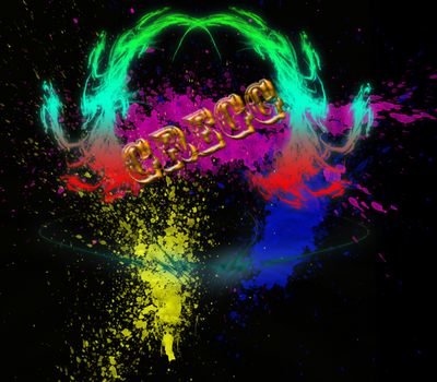 Splatter and neon mix by guitarist24000
