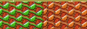Stereogram Goldfish Tessellation by sethness