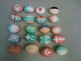 Hetalia did this to my Easter eggs by HetalianEmber