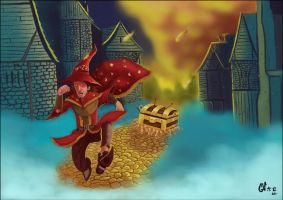 Rincewind in Ankh-Morpork by IcedEdge