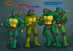 Typical TMNT by JazzTheTiger
