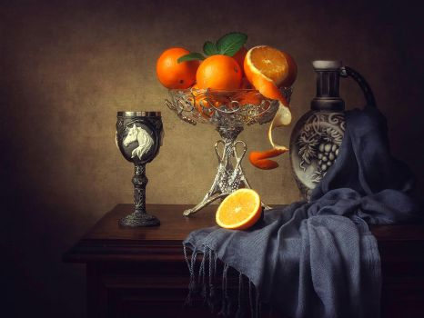 Still life with oranges by Daykiney