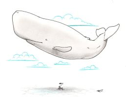 50 percent chance of whale by RobtheDoodler
