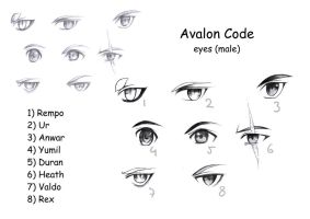 Avalon Code Eyes (male) by Shiranova