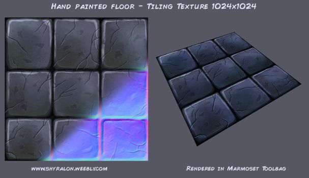 Hand Painted Stone Floor Texture by Shyralon
