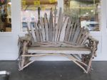 Driftwood Bench Stock by chamberstock