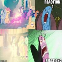 Fishes From Spongebob React to the Bright Dress by CartoonAnimes4Ever
