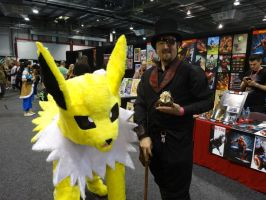 Supanova Adelaide 2014: Jolteon And The Doll Maker by lizardman22