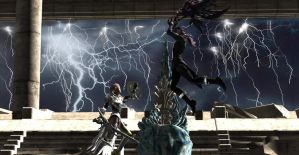 Lightning and Caius- An Endless Battle by Wellsy71