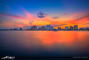 West-Palm-Beach-Skyline-Colors-at-Waterway by CaptainKimo