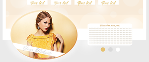 Taylor Swift PSD header by deliasworks