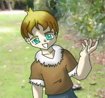 Cute guy with twisted arm. by Android18a