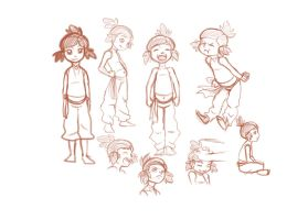 Young Korra Sketches by maryfgr23