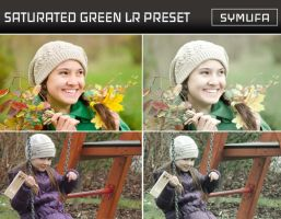 SATURATED GREEN LIGHTROOM PRESET 0018 by symufa