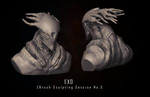 Exo - ZBrush Sculpting Session No3 by eXecutex by eXecutex