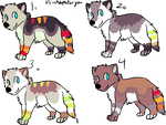 4 Pups to ~NightmareAdoptables by MichelsAdoptions