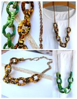 Fabric Chain Necklace DIY by Madizzo