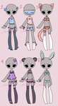 Auction Adopt: Lingerie / Sleepwear CLOSED by Lunadopt