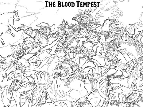 Blood Tempest Advert (Uncolored) by Dartori