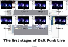 Daft Punk Live stages by Dap1987