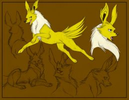 Commission- Jolteon Sketches by SombraStudio
