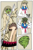 Maka becoming the Mask - coloured by MaskedWander