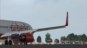 Air Berlin ready for departure by Boeing787