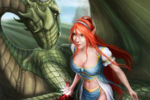 Dragon healer by Skinetneo