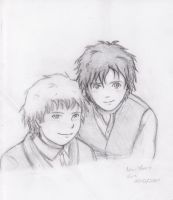 Frodo and Sam by elf-artist87
