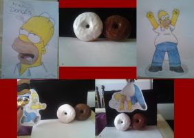 Homer vs Donut by AyaMaresca