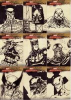 marvel sketch cards 52to60 by anjinanhut