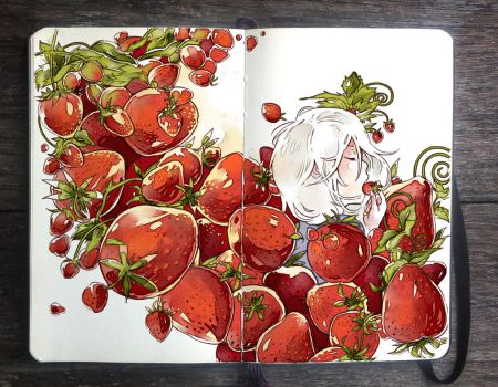 .: Strawberry Avalanche by Picolo-kun