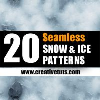 Seamless Snow - Ice Patterns by Grasycho