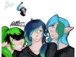 3 ponytails by Areonn