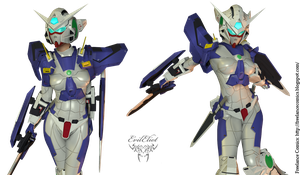 Exia Armor Mask Test 003 by EvilEliot