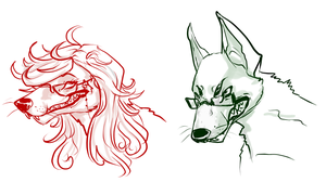 Will n' Grell Doggies by Simply-Psycho