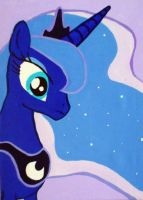 princess Luna canvas painting NO.2 by LightningChaser